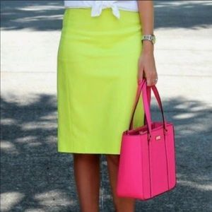 J. Crew Fun Lime Green Pencil Skirt